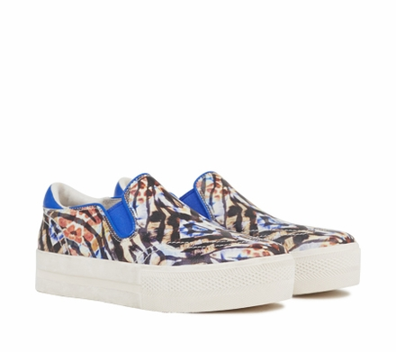 Ash Jungle Womens Slip On  Natural Electra Graphic Print Leather 350073  (106)