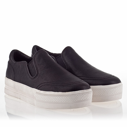 Ash Jungle Womens Slip On Sneaker Black Leather 340015 (001)