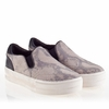 Ash Jungle Womens Sneaker  Taupe Snake Print Leather 340012 (270)