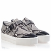 Ash Kansas Womens Sneaker Black Roccia Leather 350078 (247)