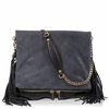 Ash Kimi Womens Crossbody Handbag Black Snake Print Leather  125005 (001)