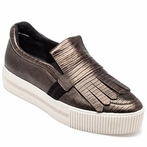 best seller Ash King Womens Slip On  Army Bronze Leather 360301  (348)