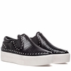 "<font size=""2"" color=""red"">NEW</font><p>Ash Kir  Womens Sneaker Black Snake Print Embossed Leather 350419 (964)"