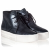 Ash Klap Womens Sneaker Black Midnight Metallic Leather 340725 (965)