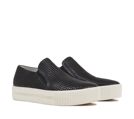 Ash Kurt Womens Slip On  Sneaker Black Leather 350082 (001)