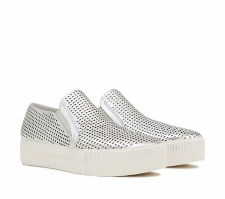 Ash Kurt Womens Slip On  Sneaker Silver Leather 350081 (040)