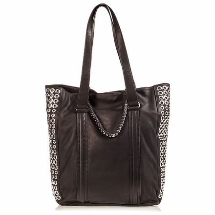 Ash Lux  Womens Tote Black Leather 124085 (001)