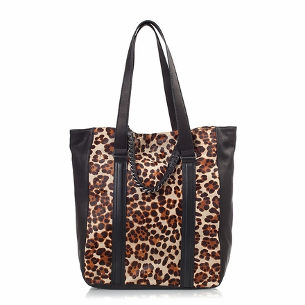 Ash Lux  Womens Tote Leopard Hair Calf 124086 (001)