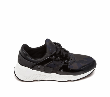ASH  Mad Sneaker Black Grey Fabric and Leather 360357 (977)