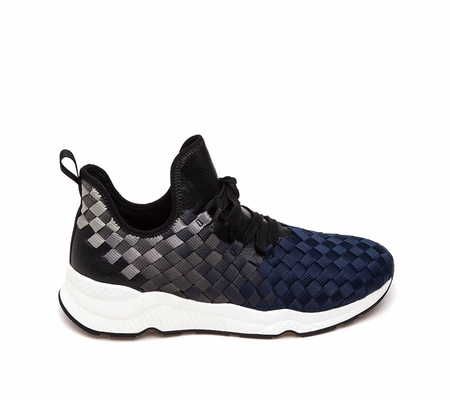 ASH Marathon Mens Sneaker Midnight Grey Woven Fabric 360390 (401)