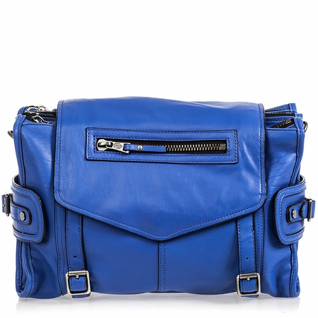Ash Mason Womens Messenger Hand Bag Cobalt Leather  125004 (431)