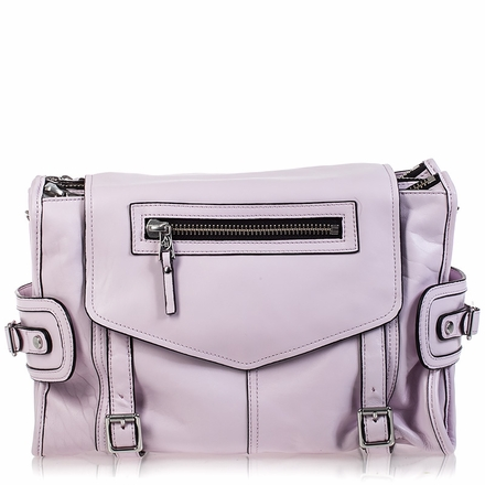 Ash Mason Womens Messenger Bag Pink Leather  125004 (650)