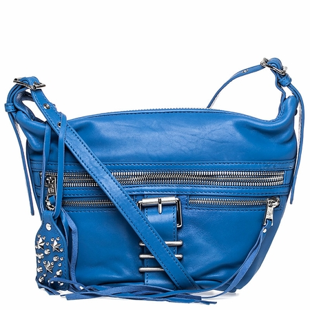 Ash Maze Womens Crossbody Bag Azure Blue Nappa Leather  125056 (445)