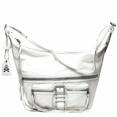 Ash Maze Womens Hobo Handbag White Nappa Leather  125057 (100)