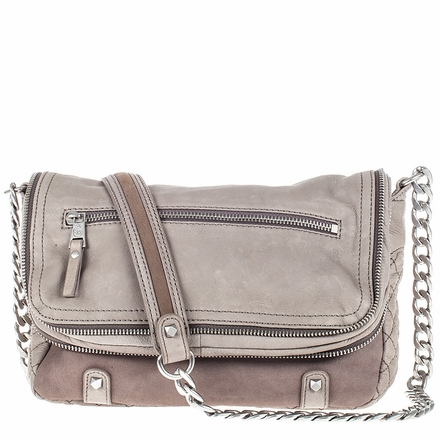 Ash Mick Womens Crossbody Grey Leather  124002 (020)