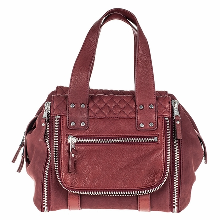 Ash Mick Womens Satchel Wine Leather  124001 (642)