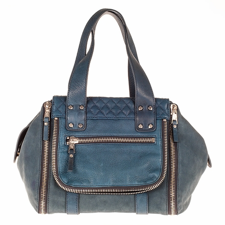 Ash Mick Womens Satchel Denim Leather  124001 (460)
