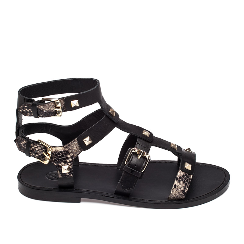 Ash Morocco Womens Black Roccia Leather  Sandal  360144 (007)