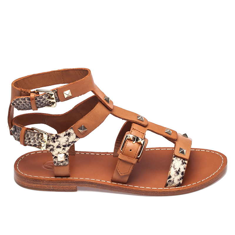 Ash Morocco Womens Camel Roccia Leather  Sandal  360144 (264)