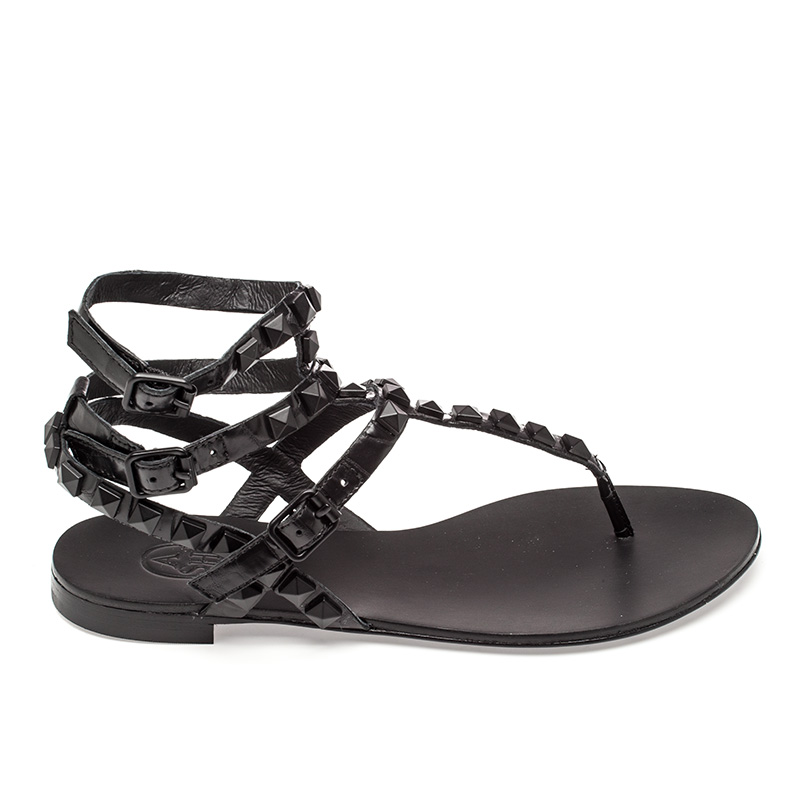 Ash Mumbaia Womens Black  Leather Sandal  360225 (001)