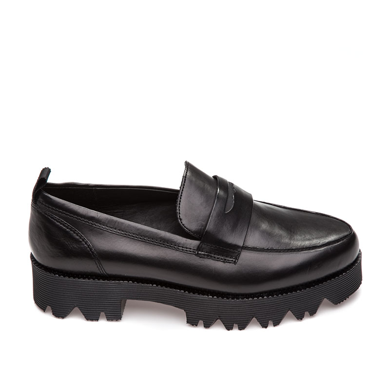 Ash Nani Womens Loafer Black Leather 360275 (001)