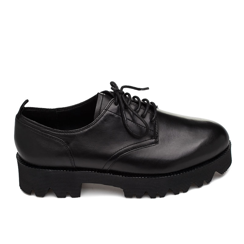 Ash Nox Womens Oxford Black Leather 360276 (001)