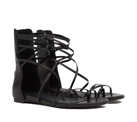 Ash  Octopus Womens Black Leather Sandal  350187 (002)