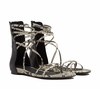 Ash  Octopus Womens Black Roccia Leather Sandal  350186 (007)