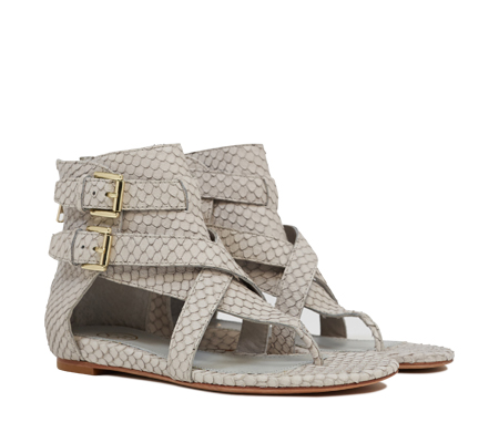 Ash  Onyx  Womens Marble Snake Leather Wedge Sandal  350189 (130)