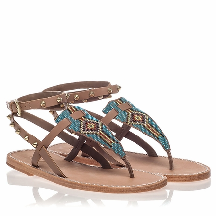 Ash  Pam Womens Nuts Taupe Leather Sandal  350193 (232)