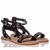 Ash  Pearl  Womens Black Leather Sandal  350196 (002)