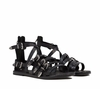 Ash  Penelope Womens Black Leather Sandal  350197 (001)