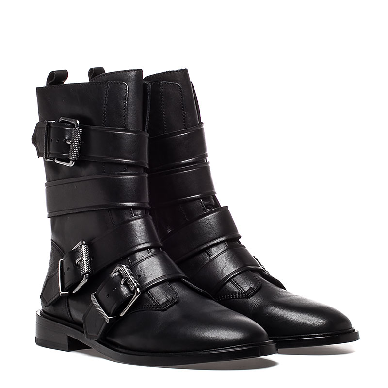 Ash Postpone Womens Boot Black Leather 350506 (001)