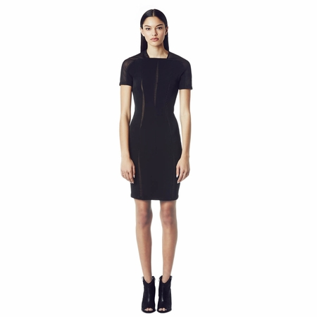 Ash Quarter Dress Black with Mesh Inserts 265032 (001)