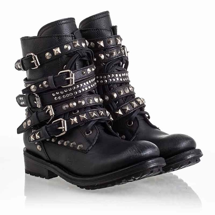 Ash Rebel Womens Boot Black Leather 340438 (001)