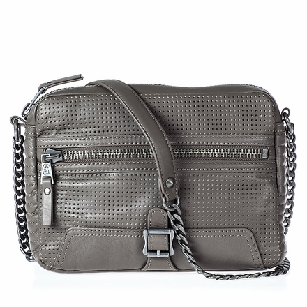 Ash Riley Womens Crossbody Grey Perforated Leather  124021 (020)
