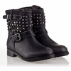 Ash  Robin Kids Stud Boot Black Leather 330458 (001)