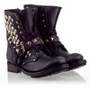 Ash Ryanna  Womens Stud Boot Black Leather 330351 (001)