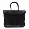 Ash Smith Womens Tote Black Gun Suede and Leather  124049 (001)