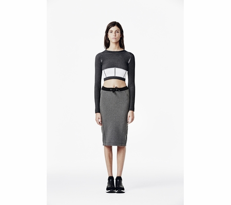 Ash Studio Paris Jump Skirt Black & Steel  265092 (015)