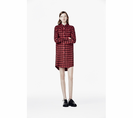 Ash Studio Paris  Rate Dress Red Plaid 265110 (600)