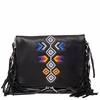Ash Talulla Womens Beaded Crossbody Handbag Black Leather  125038 (001)