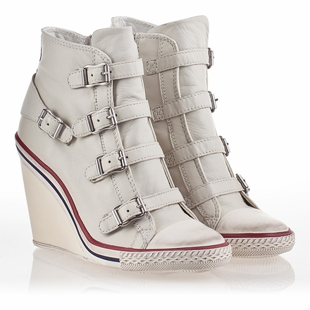 Ash Thelma Womens Wedge Sneaker Off White Leather 340026 (101)