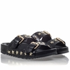 Ash  United Womens Black Leather Sandal  350124 (002)