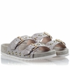 Ash  United Womens Gold Topo Clay Printed Leather Sandal  350125 (711)