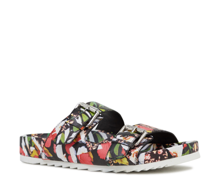 Ash  Up Womens Floral Print Leather Sandal  350127 (983)