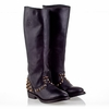 Ash  Vamos  Boot Distressed Black Leather 330349 (001)
