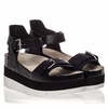 Ash  Vera  Womens Black Croc Print Leather Sandal  350214 (002)