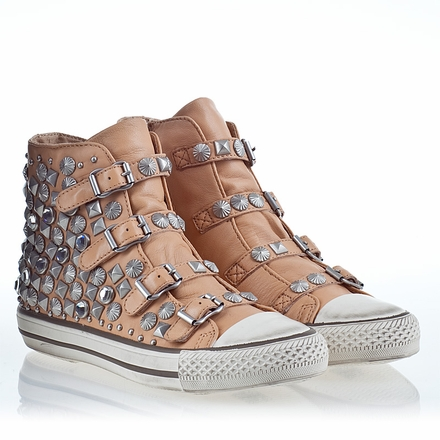 Ash Victim Womens Stud Sneaker Clay Leather 340044 (269)