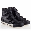 Ash Viking Womens Sneaker Black Snake Print Leather 330432 (002)